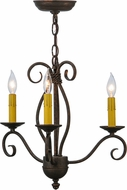 Meyda Tiffany 115226 Sienna Corinth / Black Shades Mini Chandelier Lighting