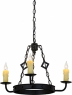 Meyda Tiffany 115232 Elvita Blackwash Mini Lighting Chandelier