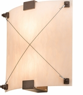 Meyda Tiffany 115590 Maxton Faux Alabaster Acrylic Cajun Spice Wall Lighting Sconce