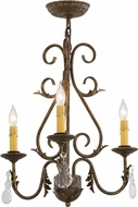 Meyda Tiffany 115925 French Elegance Pompeii Gold Mini Chandelier Lamp