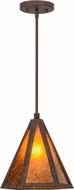 Meyda Tiffany 115961 Lars Contemporary Rusty Nail / Amber Mica Hanging Pendant Lighting