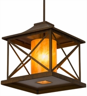 Meyda Tiffany 115982 Contemplation Rustic Iron Hanging Lamp