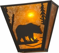 Meyda Tiffany 116311 Bear Creek Country Timeless Bronze / Amber Mica Lamp Sconce