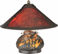 Meyda Tiffany 118681 Van Erp Amber Mica Mahogany Bronze Table Light