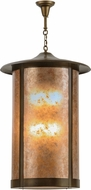Meyda Tiffany 119096 Fulton Prime Antique Copper / Amber Mica Drop Ceiling Lighting