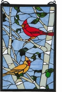 Meyda Tiffany 119436 Tiffany Patina Cardinal Morning Window