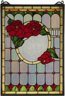 Meyda Tiffany 119443 Morgan Rose Tiffany Patina Stained Glass Window