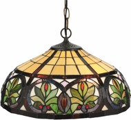Meyda Tiffany 119562 Sunrise Tiffany Mahogany Bronze Pendant Light