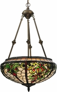 Meyda Tiffany 119645 Barroco Tiffany Mahogany Bronze Pendant Lamp