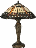 Meyda Tiffany 119679 Cleopatra Tiffany Mahogany Bronze Table Top Lamp