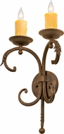 Meyda Tiffany 120207 Andorra Gilded Tobacco Sconce Lighting