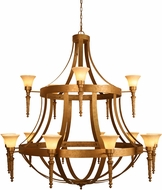 Meyda Tiffany 120632 Pontoise Autumn Leaf Chandelier Light
