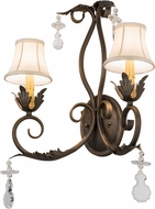 Meyda Tiffany 120759 Felicia Cream Trumpet Textrene French Bronze Wall Sconce Lighting