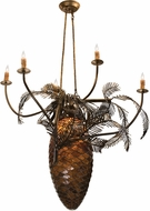 Meyda Tiffany 12363 Pinecone Country Antique Copper Chandelier Light