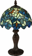 Meyda Tiffany 124812 Nightfall Wisteria Tiffany Mahogany Bronze Table Lamp