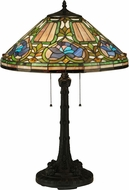 Meyda Tiffany 124816 Tiffany Floral Mahogany Bronze Lighting Table Lamp