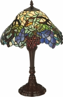 Meyda Tiffany 125093 Spiral Grape Tiffany Mahogany Bronze Table Lamp