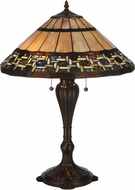 Meyda Tiffany 125114 Ilona Tiffany Mahogany Bronze Table Light