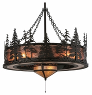 Meyda Tiffany 125745 Tall Pines Rustic Oil Rubbed Bronze Finish 45 Wide Ceiling Chandelier
