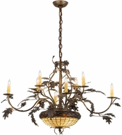 Meyda Tiffany 126808 Greenbriar Oak Dark Burnished Antique Copper Lighting Chandelier