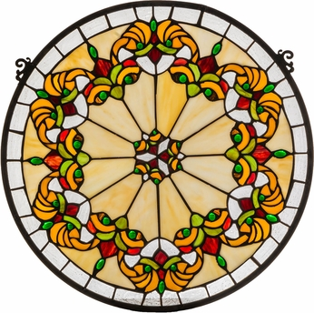 Meyda Tiffany 127115 Middleton Medallion Tiffany Patina Stained Glass Window