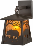 Meyda Tiffany 129673 Black Bear Timeless Bronze / Amber Mica Wall Mounted Lamp