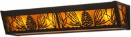 Meyda Tiffany 130361 Mountain Pine Country Timeless Bronze / Amber Mica Vanity Light