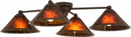 Meyda Tiffany 130746 Van Erp Timeless Bronze / Amber Mica Flush Mount Lighting Fixture
