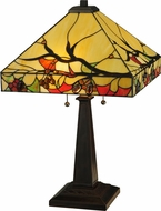 Meyda Tiffany 131507 Woodland Berries Tiffany Mahogany Bronze Table Lighting