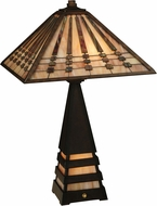 Meyda Tiffany 131510 RA Tiffany Mahogany Bronze Table Lamp Lighting
