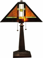Meyda Tiffany 132673 Montana Mission Tiffany Mahogany Bronze Table Lamp