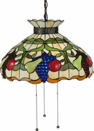 Meyda Tiffany 132674 Fruit Tiffany Mahogany Bronze Drop Ceiling Lighting