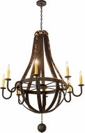 Meyda Tiffany 133273 Barrel Stave Coffee Bean Chandelier Lamp