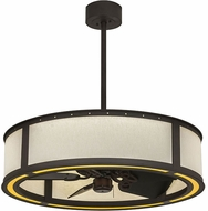 Meyda Tiffany 133804 Maplewood Oil Rubbed Bronze LED Chandel-Air Ceiling Fan