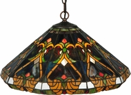 Meyda Tiffany 134173 Middleton Tiffany Mahogany Bronze Ceiling Light Pendant