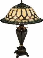 Meyda Tiffany 134536 Aello Tiffany Mahogany Bronze Table Lamp Lighting