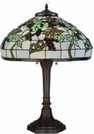 Meyda Tiffany 134538 Veneto Tiffany Mahogany Bronze Side Table Lamp
