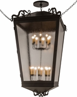 Meyda Tiffany 135766 Madeline Timeless Bronze / Clear Seedy Acrylic Foyer Light Fixture