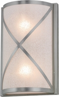 Meyda Tiffany 136052 Whitewing Modern Brushed Nickel / Etruscan Acrylic Wall Sconce Light