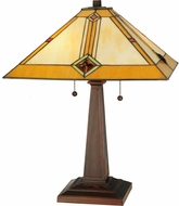 Meyda Tiffany 138110 Diamond Mission Tiffany Mahogany Bronze Table Lighting