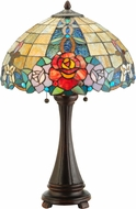 Meyda Tiffany 138121 Rose Vine Tiffany Mahogany Bronze Table Lamp Lighting