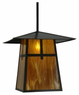 Meyda Tiffany 138217 Stillwater Cross Mission Craftsman 24  Wide Outdoor Pendant Light Fixture
