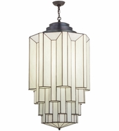 Meyda Tiffany 138472 Paramount Blackened Brass Fluorescent 24  Pendant Lighting