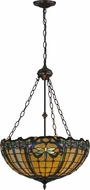 Meyda Tiffany 138577 Tiffany Dragonfly Mahogany Bronze Pendant Lighting