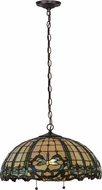 Meyda Tiffany 138578 Tiffany Hanginghead Dragonfly Mahogany Bronze Pendant Light