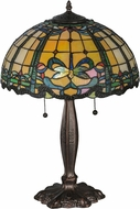 Meyda Tiffany 138585 Tiffany Dragonfly Mahogany Bronze Table Lamp Lighting