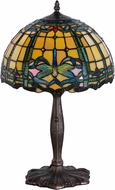 Meyda Tiffany 138586 Tiffany Dragonfly Mahogany Bronze Table Top Lamp