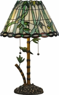 Meyda Tiffany 138588 Loro Paraiso Tiffany Mahogany Bronze Side Table Lamp