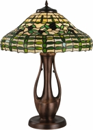 Meyda Tiffany 139418 Guirnalda Tiffany Mahogany Bronze Table Light