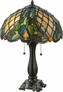 Meyda Tiffany 139420 Capolavoro Tiffany Mahogany Bronze Lighting Table Lamp